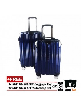 2-in-1 Premium 002 Universal Wheels Luggage - Blue