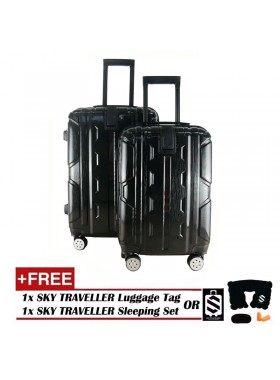 2-in-1 New Generation 8-Wheels Premium Luggage - Black