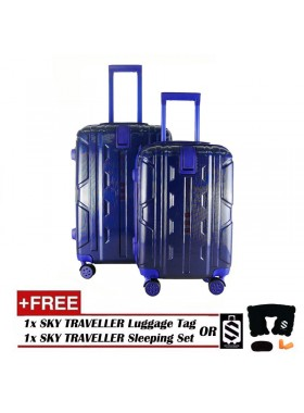 2-in-1 New Generation 8-Wheels Premium Luggage - Blue