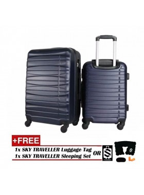 2-In-1 Luggage Set Travel Case Suitcase - Dark Blue