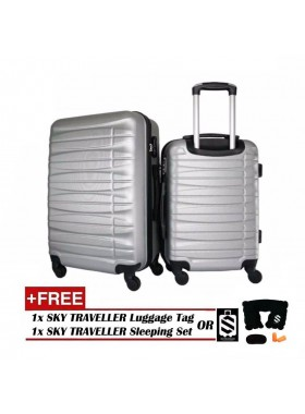 2-In-1 Luggage Set Travel Case Suitcase - Grey