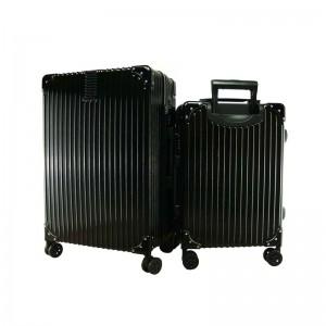 2-In-1 Esquisite Classical Luggage Set - Black