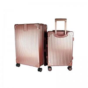 2-In-1 Esquisite Classical Luggage Set - Rose Gold