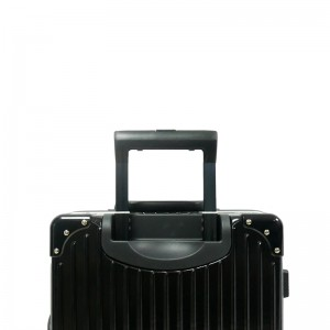 2-In-1 Aluminium Frame Classical Luggage Set - Black