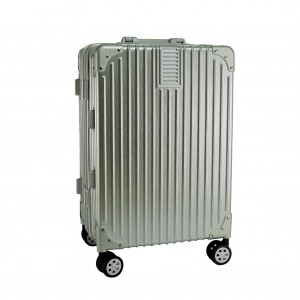 2-In-1 Aluminium Frame Classical Luggage Set - Silver