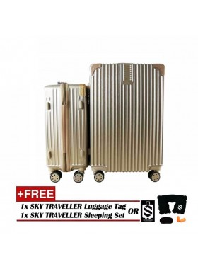 2-In-1 Premium Ultralight Vintage Style Luggage Set - Gold