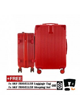 2-In-1 Premium Ultralight Vintage Style Luggage Set - Red