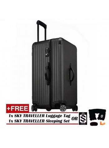 Vogue Oversize Luggage Spinner Rolling With 8 Wheels - Black