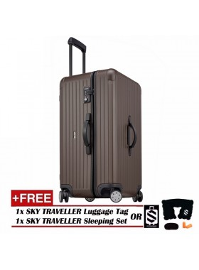 Vogue Oversize Luggage Spinner Rolling With 8 Wheels (32Inch) - Brown