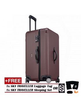 Vogue Oversize Luggage Spinner Rolling With 8 Wheels (32Inch) - Maroon