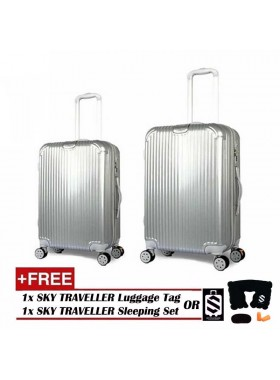 2-In-1 Premium Ultralight Luggage Set - Sliver