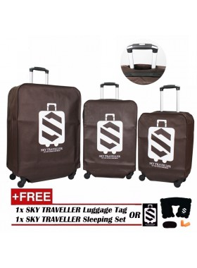 3-In-1 Luggage Protector Cover Set - Brown