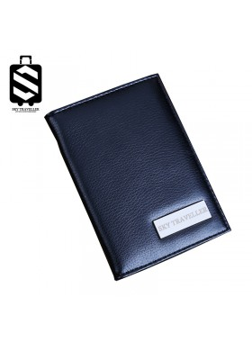 Travel Passport Covers Credit Card Boarding Pass Holder Protective Cover Wallet Case - Black
