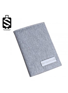 Travel Passport Covers Credit Card Boarding Pass Holder Protective Cover Wallet Case - Grey